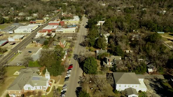 Thumbnail for Aerial footage Fort Gaines Georgia USA