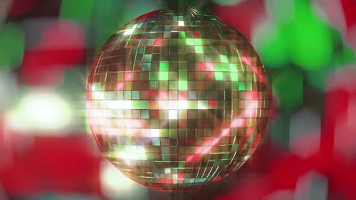Bright Colored Disco Ball