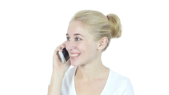 Thumbnail for Phone Call, Woman Talking On Smartphone