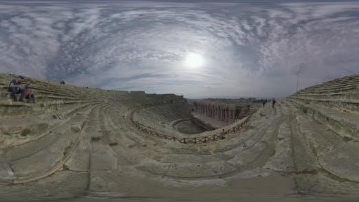 Thumbnail for 360 VR Roman Amphitheatre in Ancient Hierapolis City, Turkey