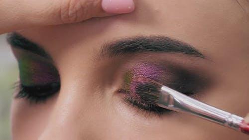 Makeup Artist's Work Close Up