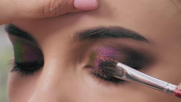 Thumbnail for Makeup Artist's Work Close Up