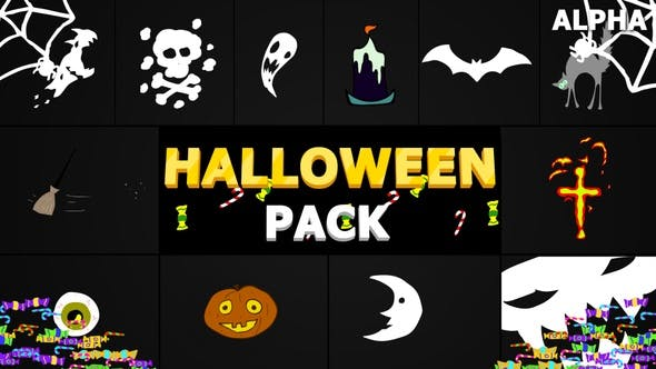 Halloween Elements | Motion Graphics Pack