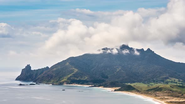 Thumbnail for Fast Clouds over Ocean Beach Mountains