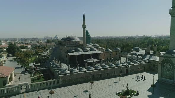 Thumbnail for Konya Mosque And Courtyard Aerial View