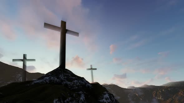 Thumbnail for Sunrise Behind Three Crosses