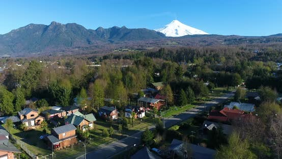 Thumbnail for Aerial Above Pucon Chile Volcano Background