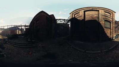 VR360 View of Old Abandoned Factory
