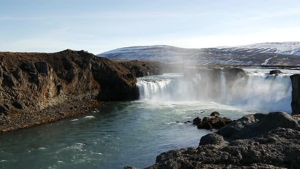 Thumbnail for Godafoss waterfall in Iceland