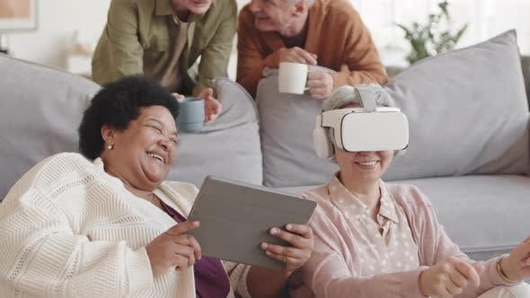 Older Women Enjoying Modern Technology
