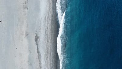 Vertical of a beach and Sea