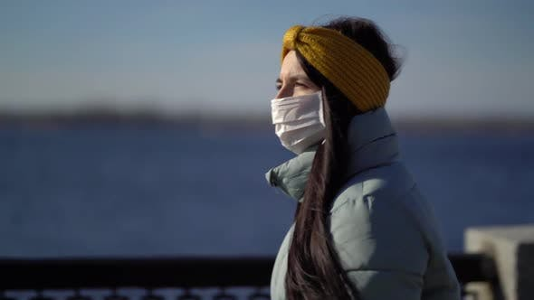 Thumbnail for Woman Wearing Face Mask in the City