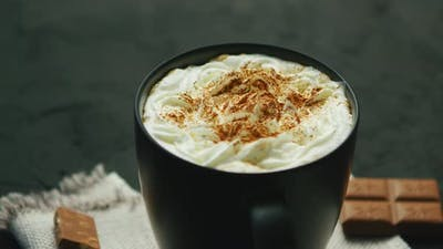 Cup of Coffee with Whipped Cream