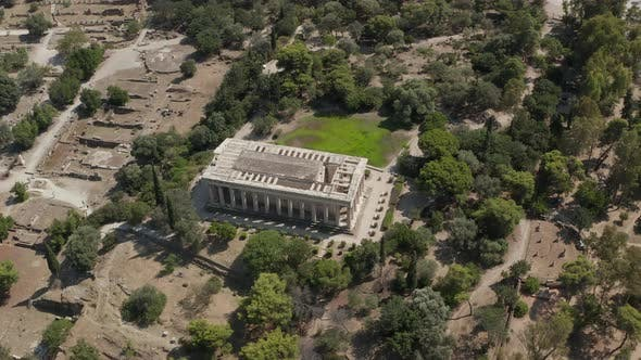 Thumbnail for Aerial View of Ancient Agora, Athens Historic Center, Attica, Greece