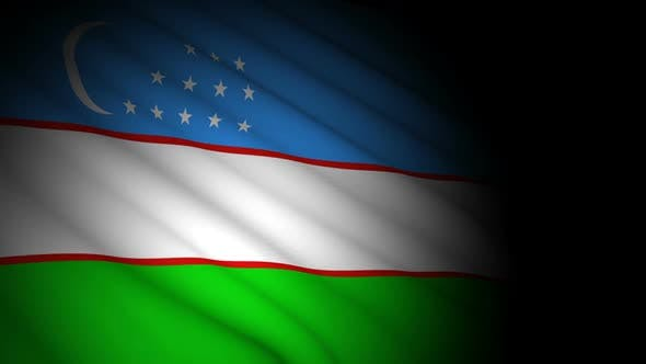 Thumbnail for Uzbekistan Flag Blowing in Wind