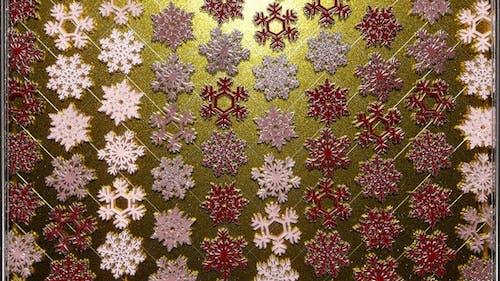 Rotating Silver Snowflakes 12