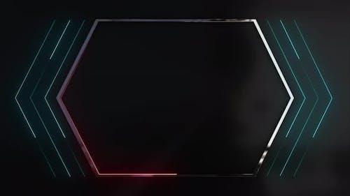 Hexagon Video frame place holder
