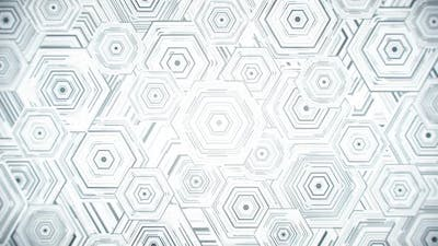 White Hexagonal Pattern