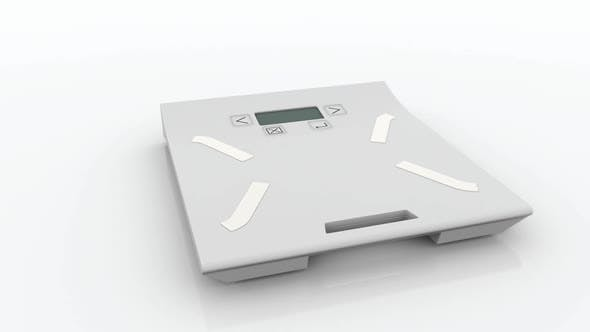 Thumbnail for Screen on the Weight Scales Shows Loss of the Body Weight