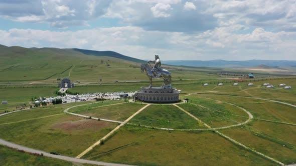Statue des Dschingis Khan in der Mongolei