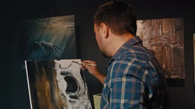 The Artist Draws a Picture Paints