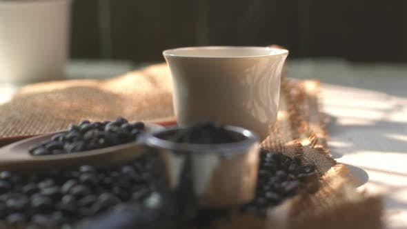 Thumbnail for Hot Coffee Cup With Coffee Bean