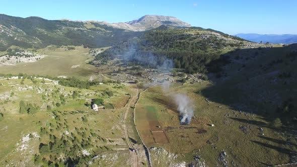Thumbnail for Bushes burning on Dinara mountain