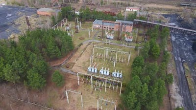 Aerial View Electrical Substation