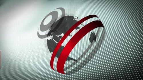 Animation von Wörtern Fake News auf einem Banner mit Globus geschrieben