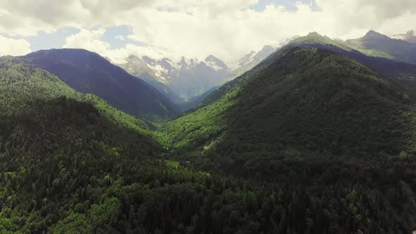 Thumbnail for Dramatic Mountain Landscape In Georgian Svaneti Region