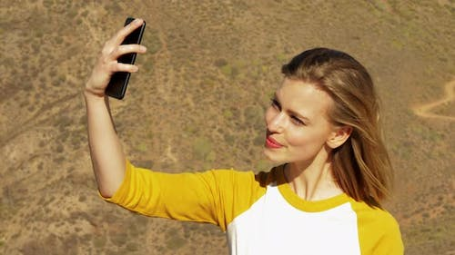 Stunning Female Taking Selfie by the Gran Canaria View Point