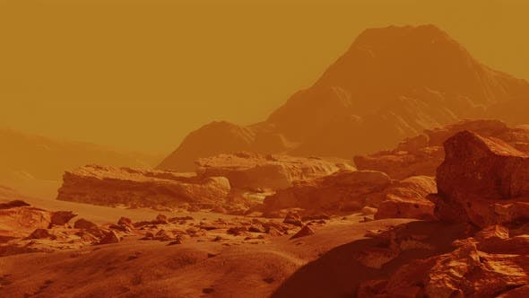 Scene From the Red Planet Mars