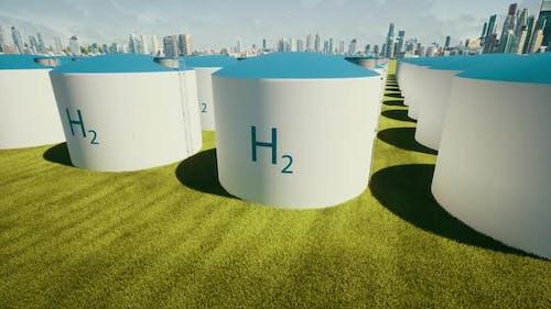 H2 Ecological Future Eco Business Hydrogen Filling Station Big Tanks