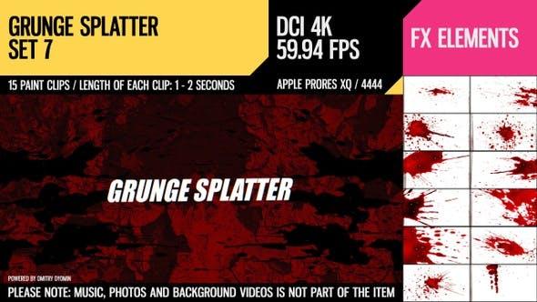 Thumbnail for Grunge Splatter (4K Set 7)