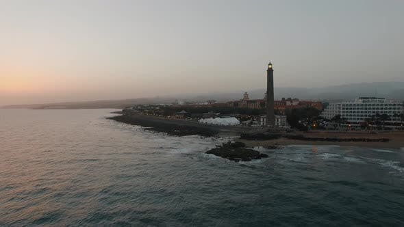 Thumbnail for Gran Canaria Coastal Resort with Lighthouse, Aerial