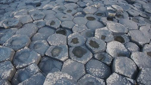 Hexagonale geologische Formationen von Giant Causeway, Nordirland