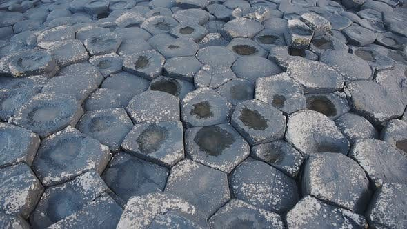 Hexagonal geological formations of Giant Causeway, northern Ireland