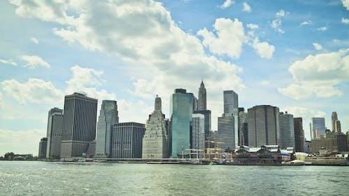 Lower Manhattan skyline, New York City, New York, USA