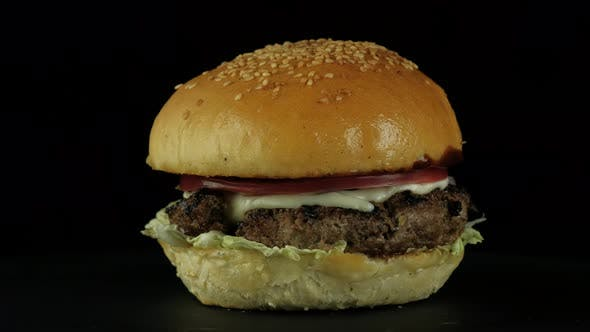 Thumbnail for Closeup Appetizing Tasty Burger