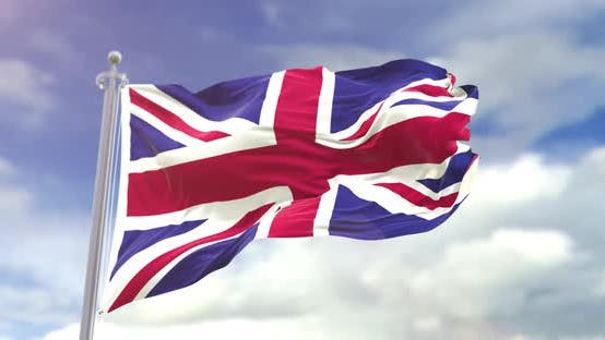 Thumbnail for Realistic United Kingdom Flag Slow Motion 4K