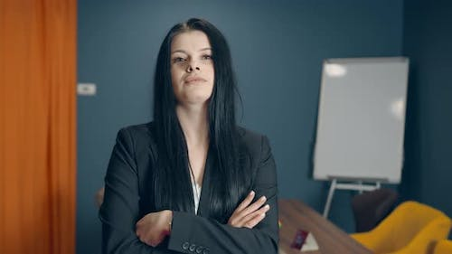 Portrait of a Successful Female Leader in the Office