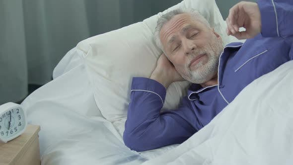 Thumbnail for Elderly Man Lacks in Strength and Energy to Wake up From Bed Early in Morning