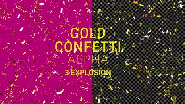 Thumbnail for Golden Confetti Three Explosion