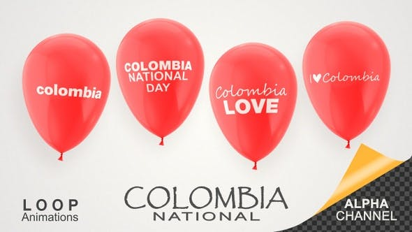 Thumbnail for Colombia National Day Celebration Balloons