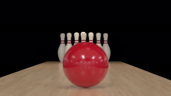 Thumbnail for Bowling Strike in Slow Motion on Alpha Channel