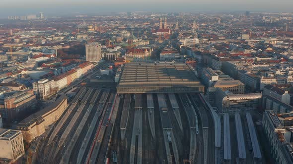 Thumbnail for Huge Munich Central Train Station in Germany with Little Traffic and Less Traveling Due To