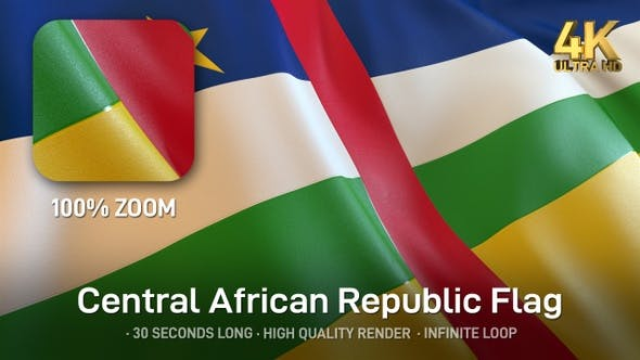Thumbnail for Central African Republic Flag - 4K