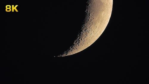 Moon Craters With Megazoom Telescope
