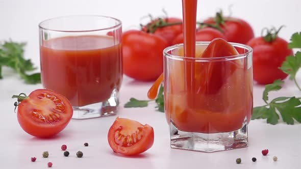 Thumbnail for Pouring Tomato Juice Into Glass