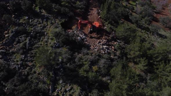 Road Construction of Excavator Aerial Access
